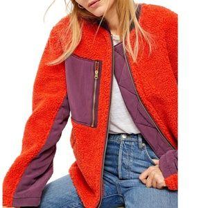 NWT free people Irvington faux shearling jacket M